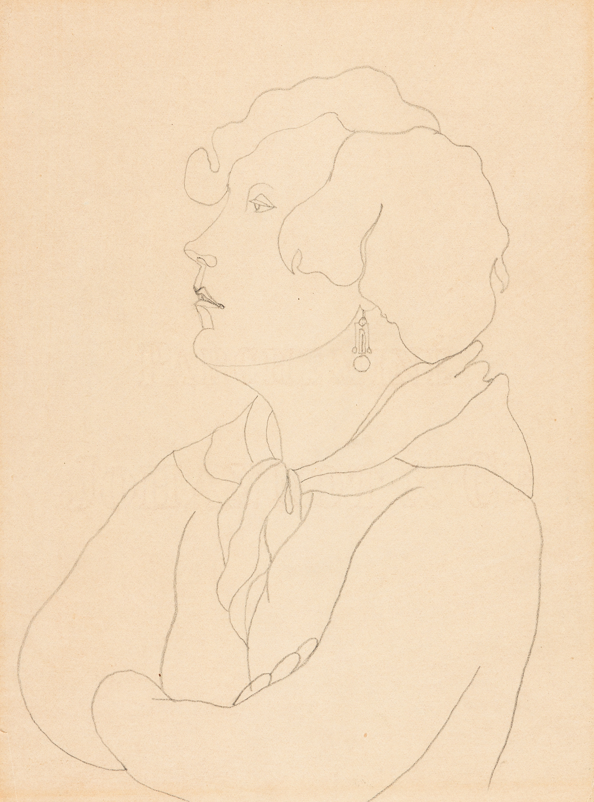 JEAN COCTEAU (1889-1963) Portrait of Mary Butts.