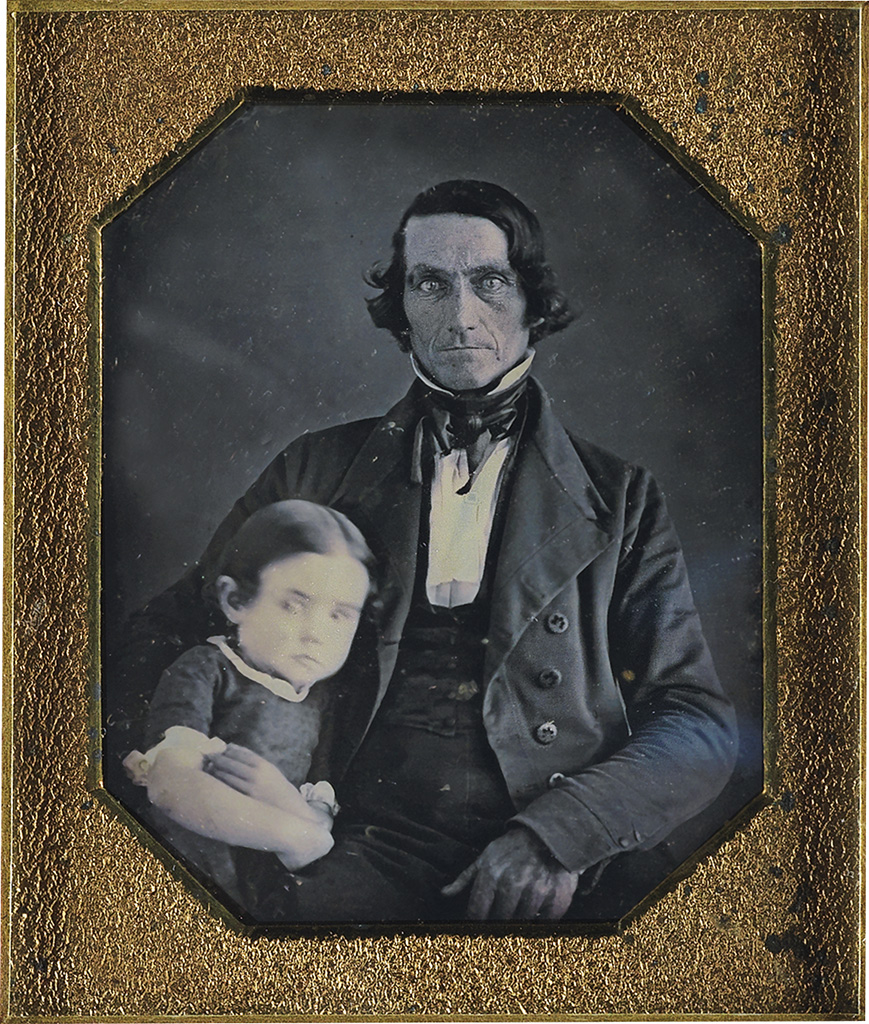 AUGUSTUS-WASHINGTON-(1820---1875)-Unidentified-Man-with-Chil