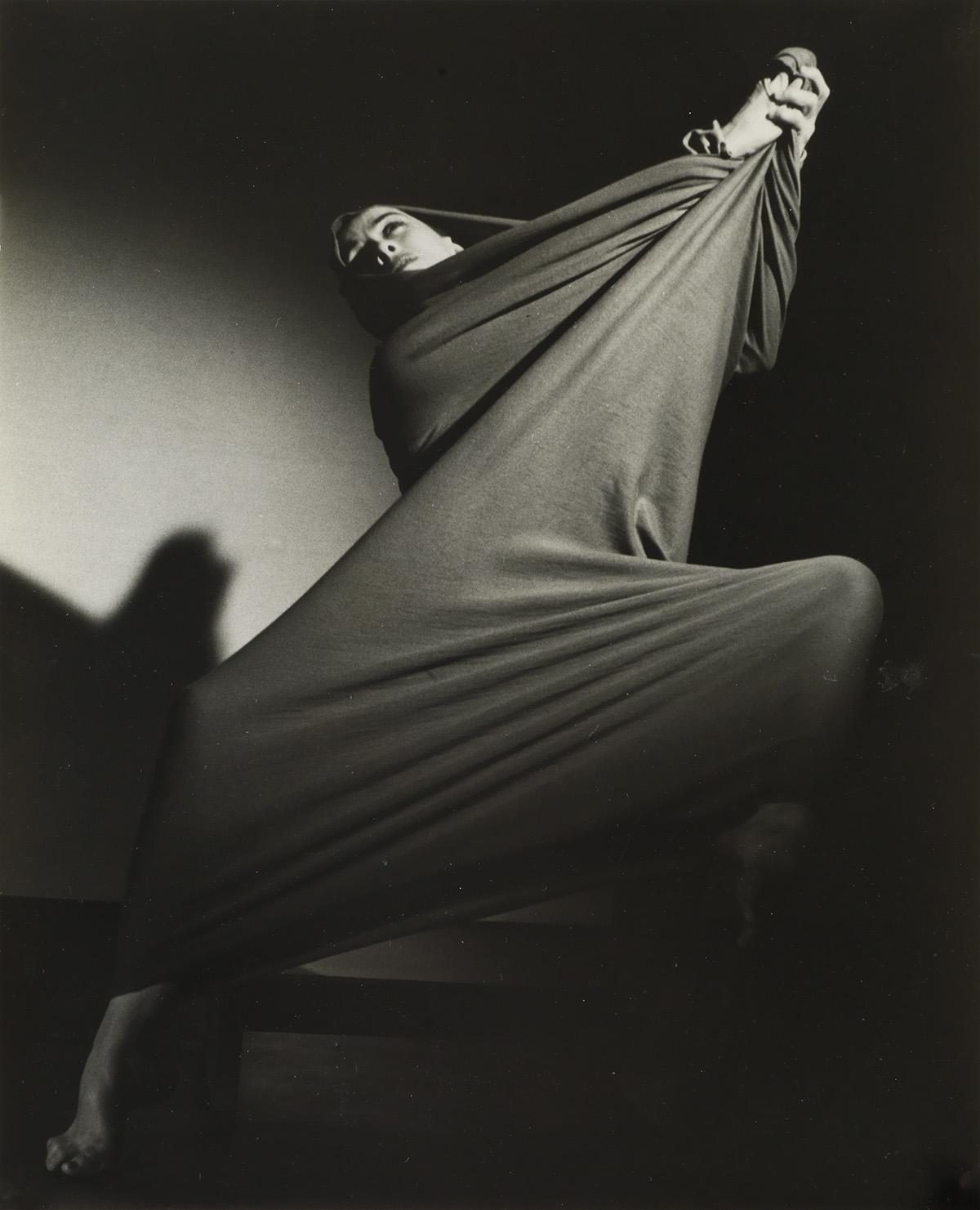 BARBARA MORGAN (1900-1992) Martha Graham performing Lamentation.
