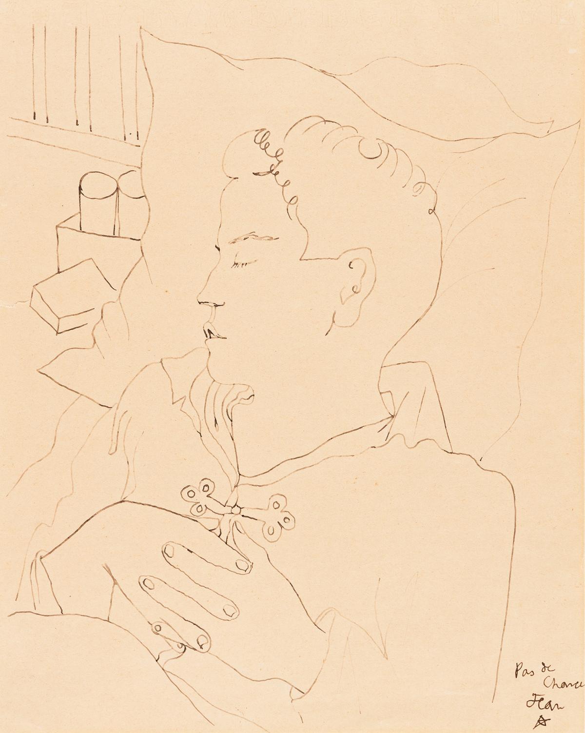 JEAN COCTEAU (1899-1963) Pas de Chance.