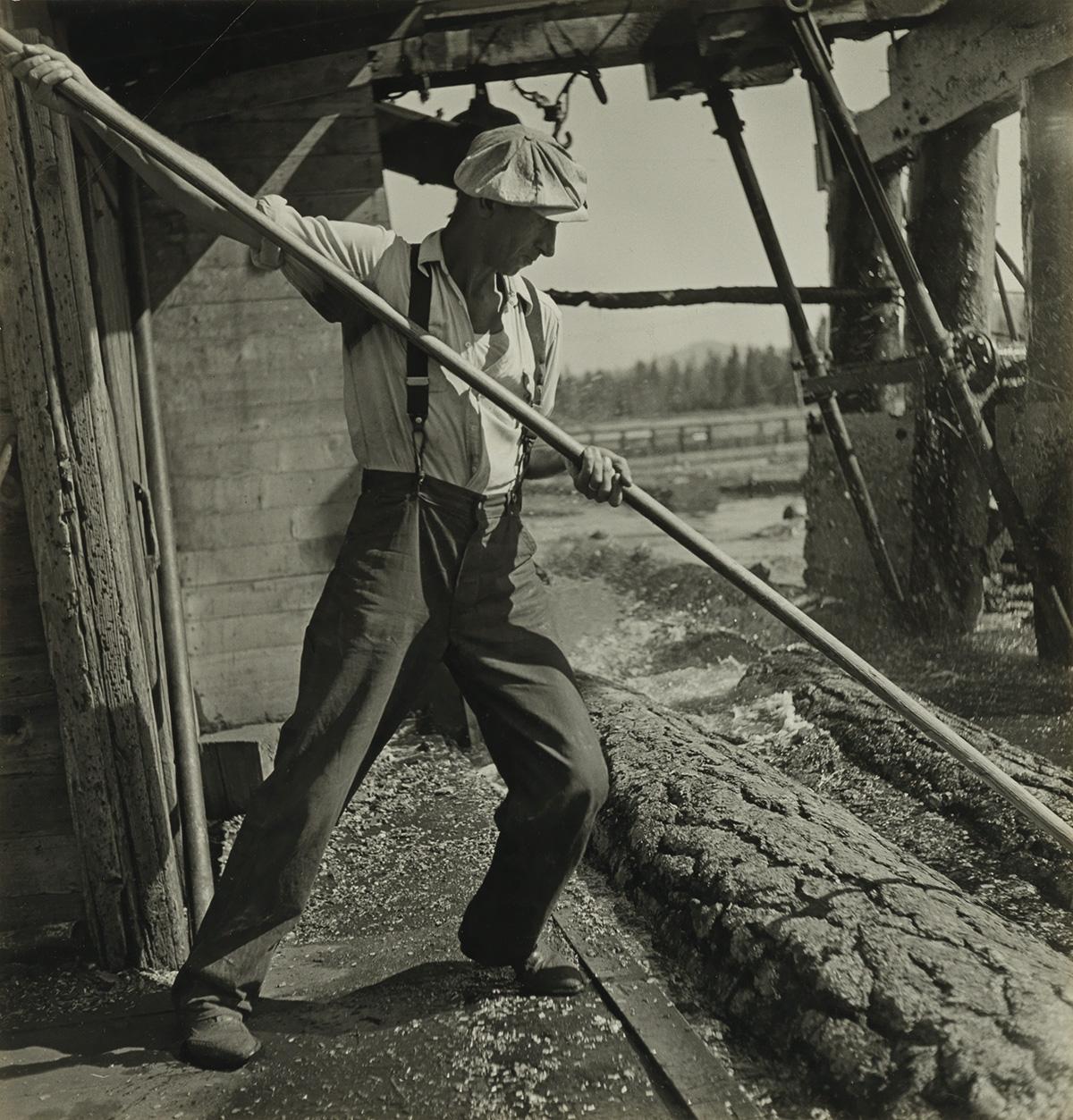 BERENICE ABBOTT (1898-1991) Red River logging company, California.