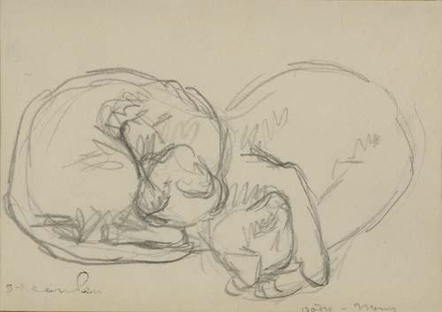 THÉOPHILE STEINLEN Deux Chats endormie.