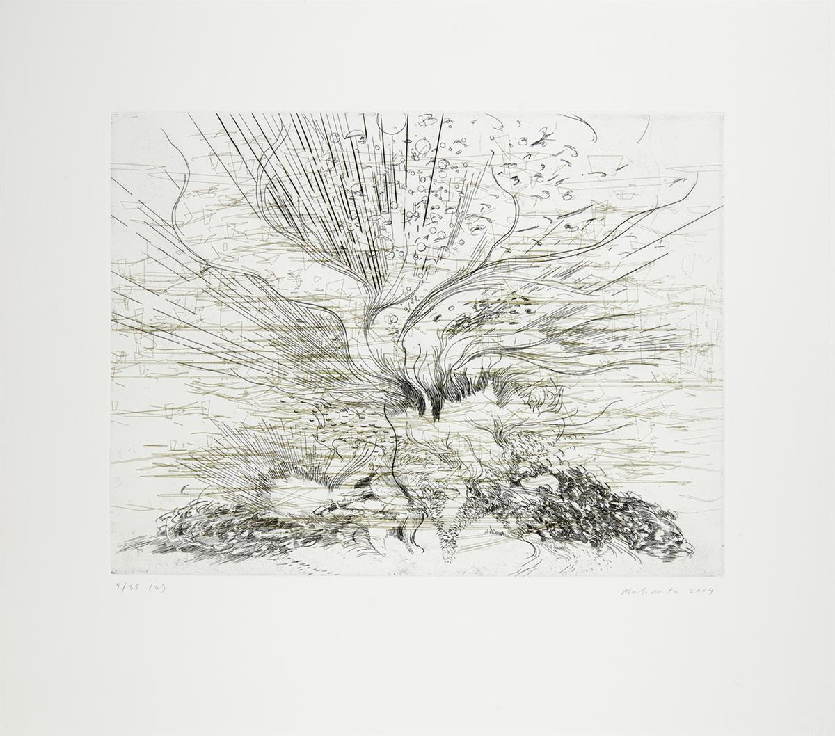 JULIE MEHRETU (1970 -   ) Landscape Allegories.