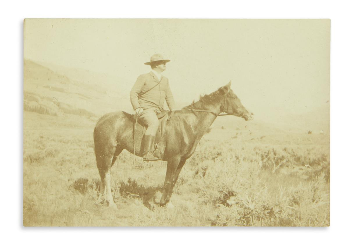(WEST.) Archive of books and ephemera kept by a family friend of the Western artist Frederic Remington, including three signed items.