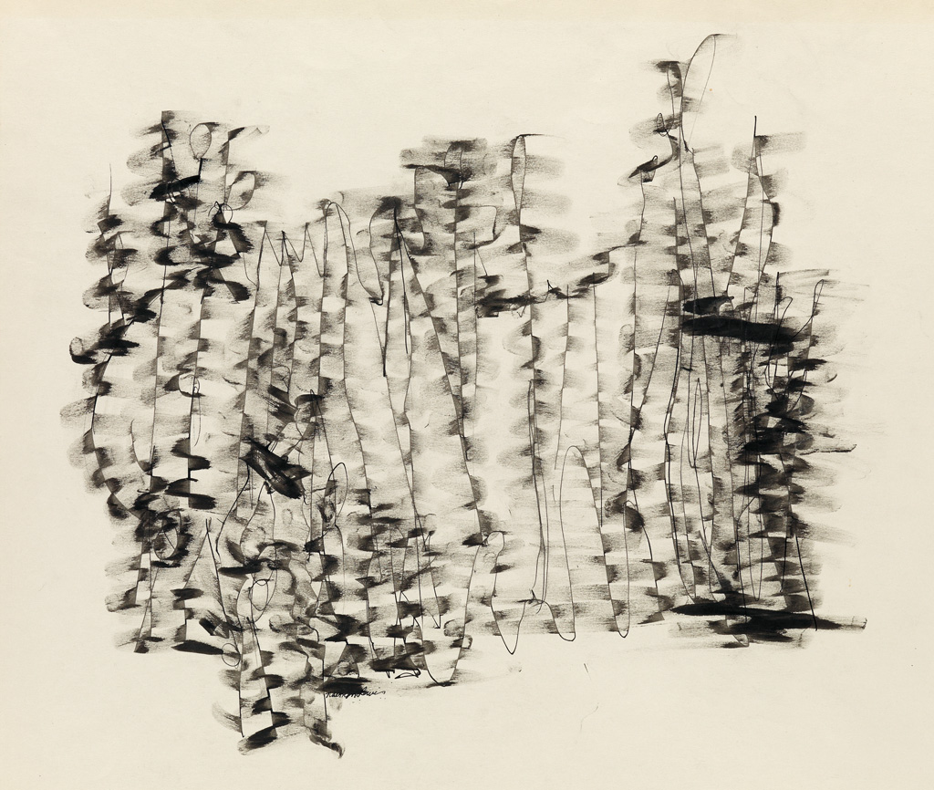 NORMAN LEWIS (1909 - 1979) Untitled (Sketch to Charlie Parkers Music).