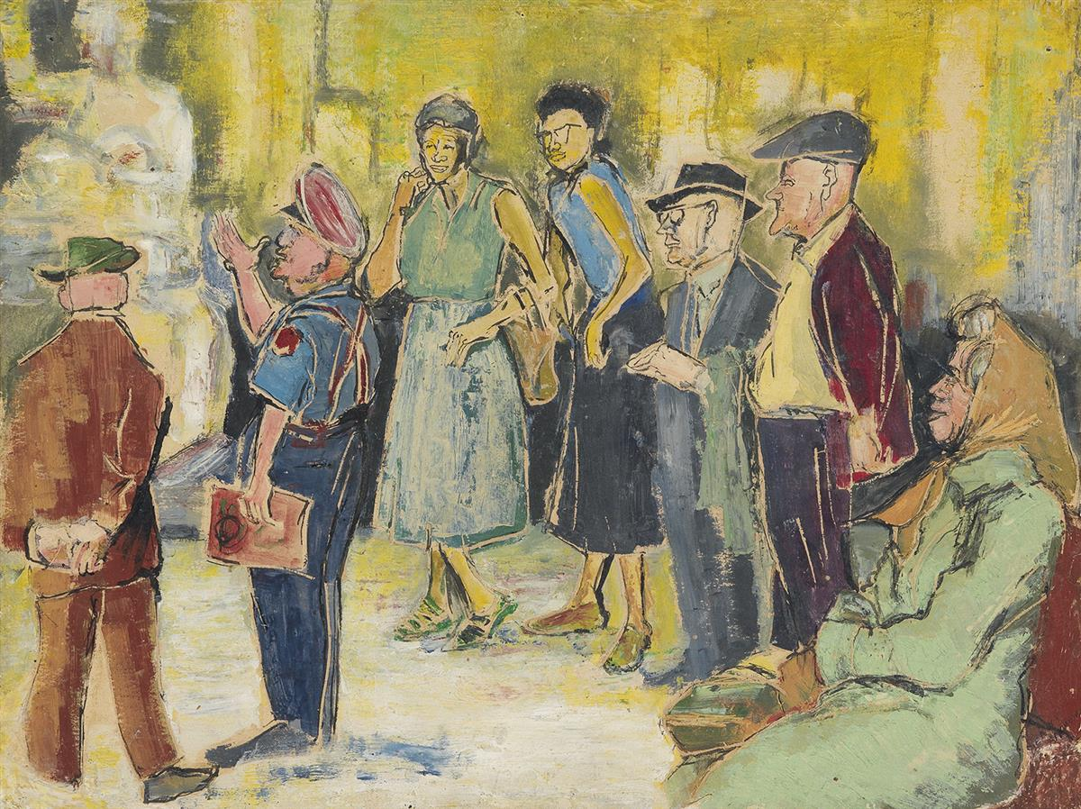 BENNY-ANDREWS-(1930---2006)-Untitled-(Museum-Tour)