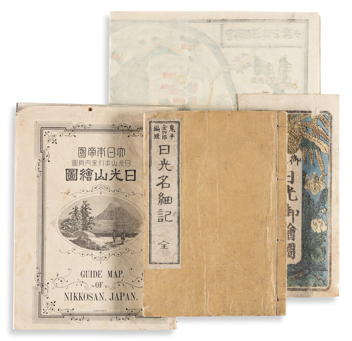 (JAPAN -- NIKKO.) Group of 3 nineteenth-century tourist guides to the mountain resort town north of Tokyo.