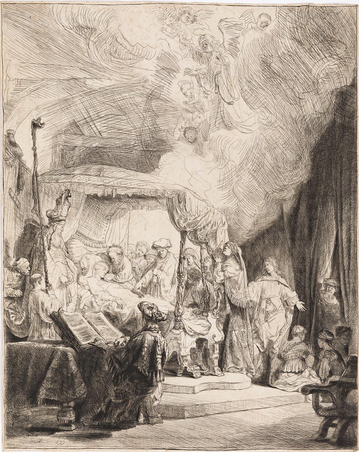 REMBRANDT VAN RIJN The Death of the Virgin.