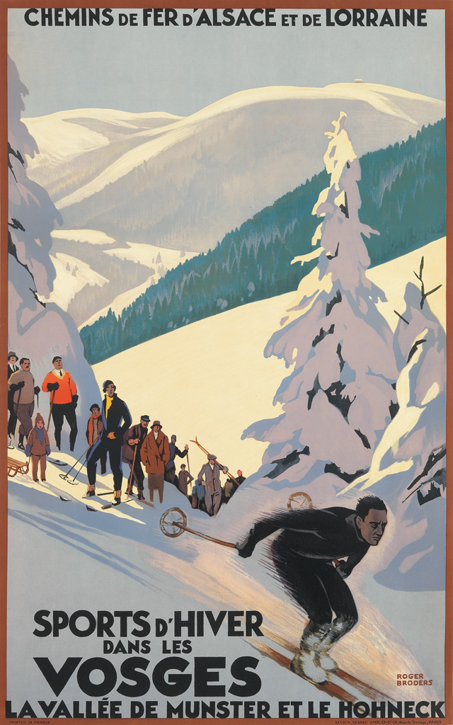 ROGER-BRODERS-(1883-1953)-SPORTS-DHIVER-DANS-LES-VOSGES-Circ