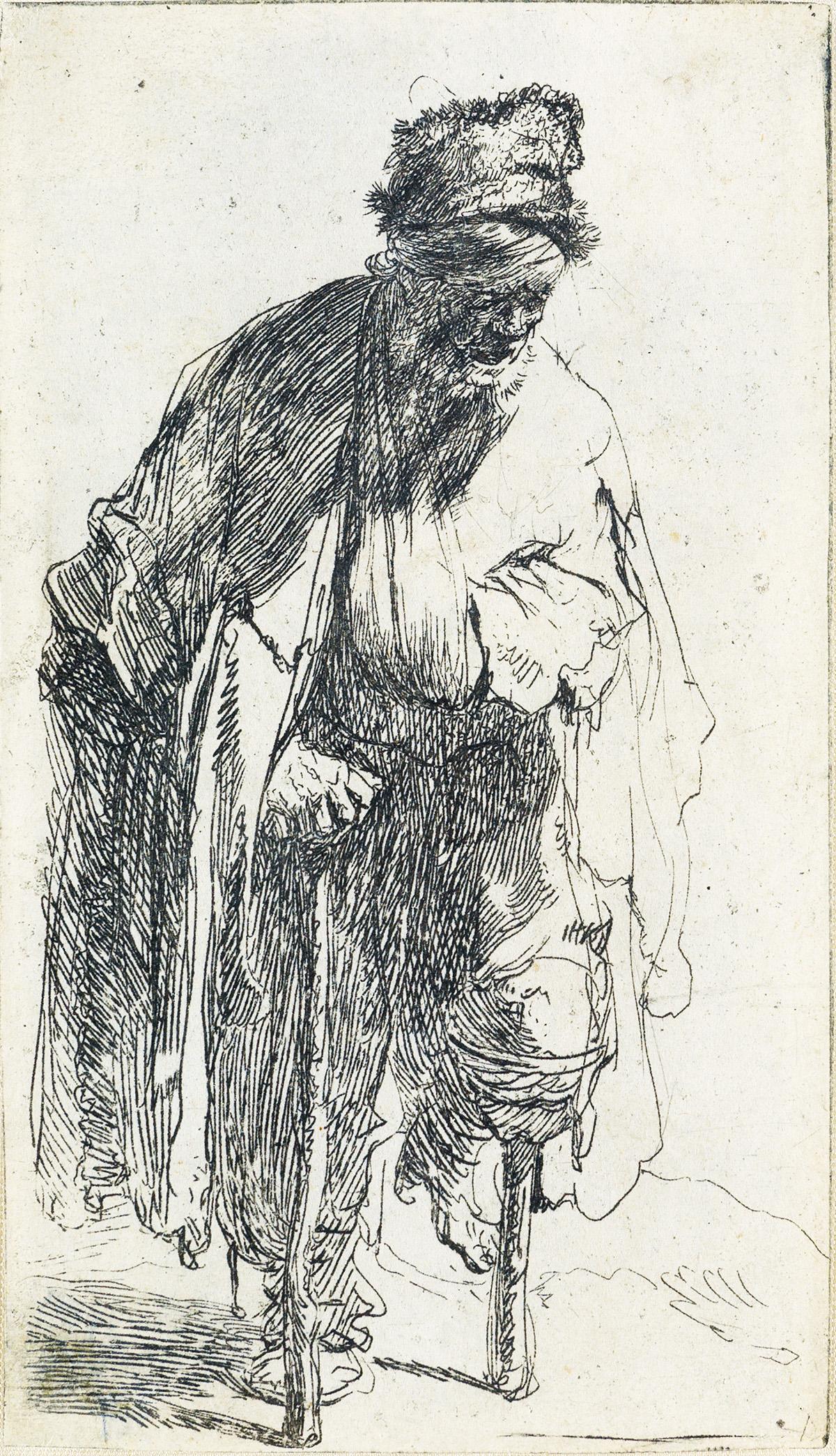 REMBRANDT VAN RIJN A Beggar with a Wooden Leg.