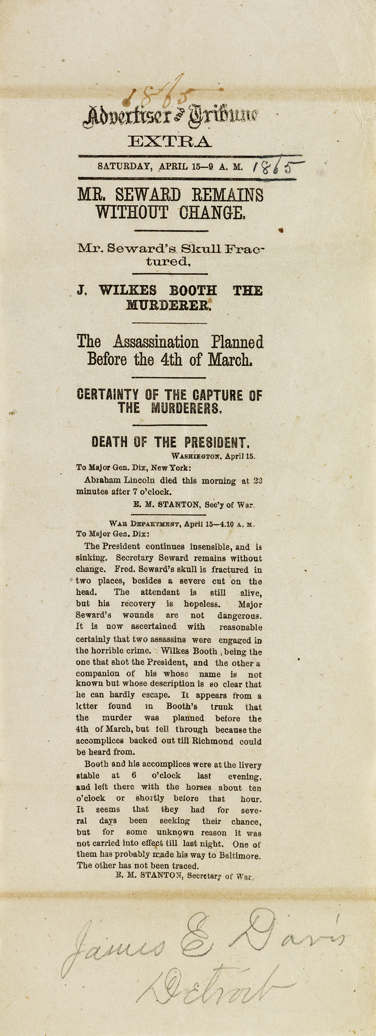 (LINCOLN-ABRAHAM)-Advertiser-and-Tribune-assassination-extra
