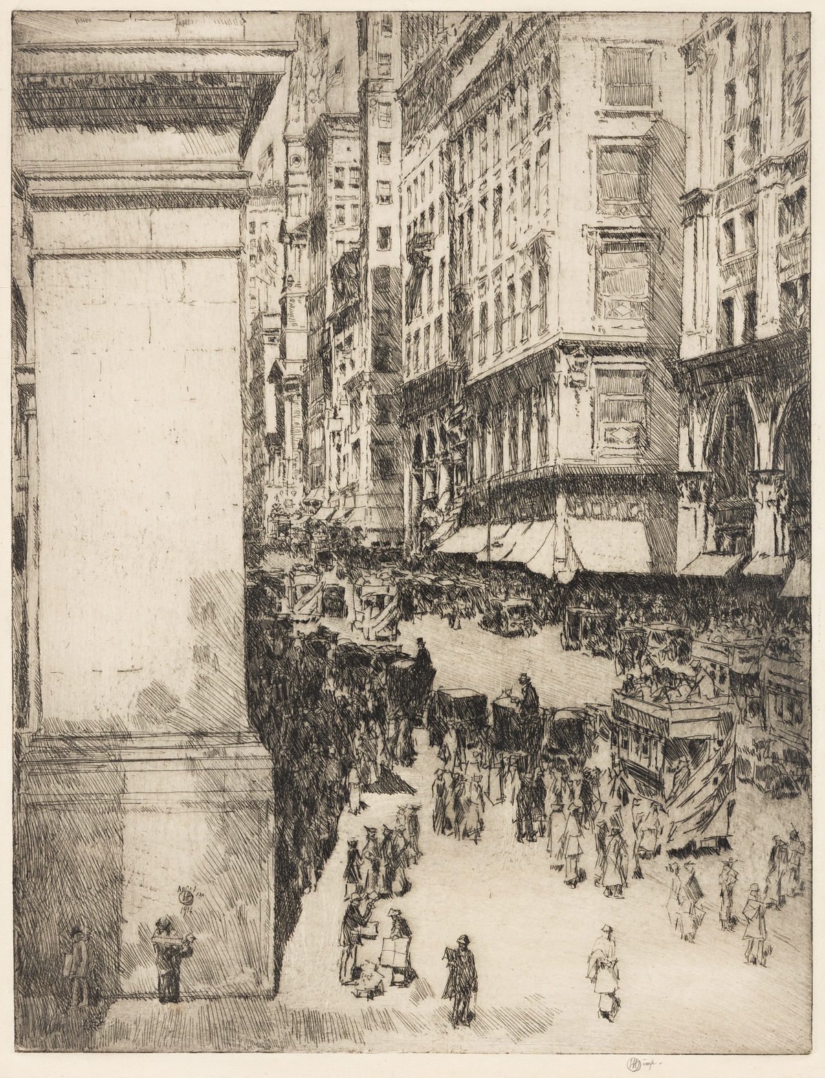 CHILDE HASSAM Fifth Avenue, Noon.
