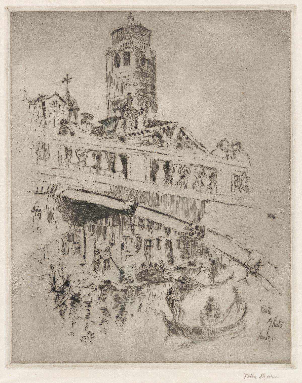 JOHN MARIN Ponte Ghetto, Venice.
