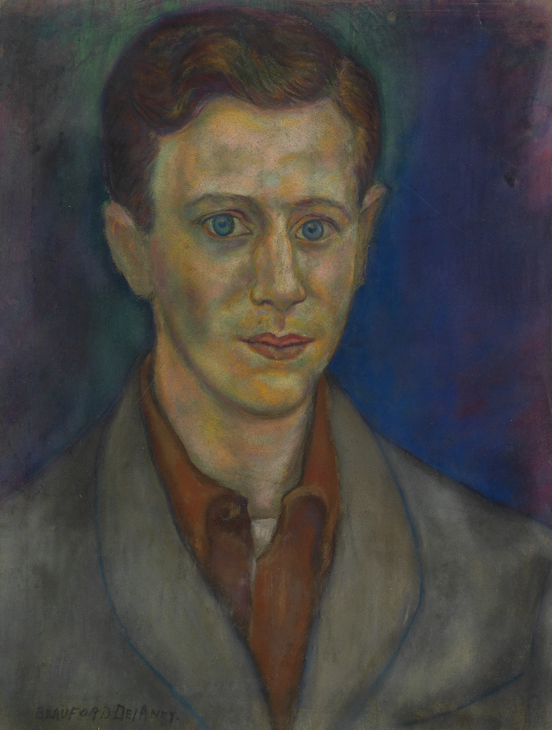 BEAUFORD DELANEY (1901 - 1979) Untitled (Portrait of a Young Man).