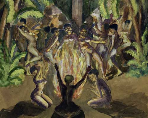 JOSEPH-DELANEY-(1904---1981)-Untitled-(Tribal-Dance)