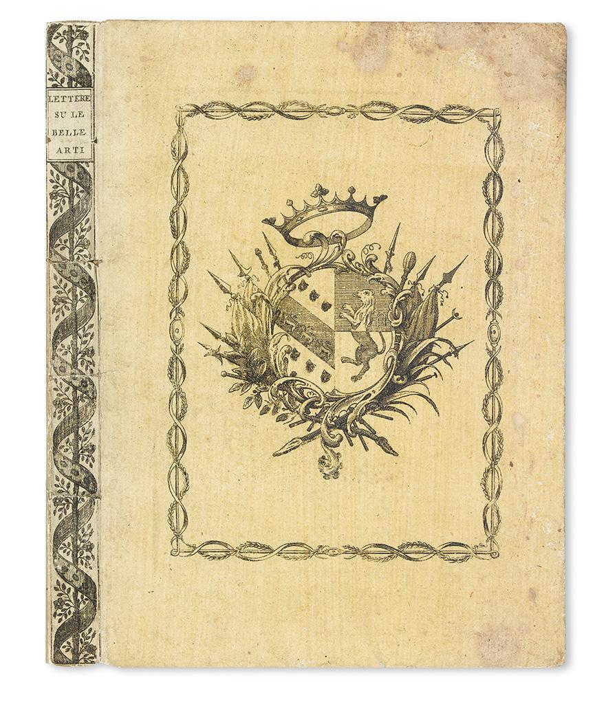 BETTINELLI, SAVERIO, S.J.  Lettere su le Belle Arti publicate nelle Nozze Barbarigo-Pisani.  1793.  In original pictorial boards.