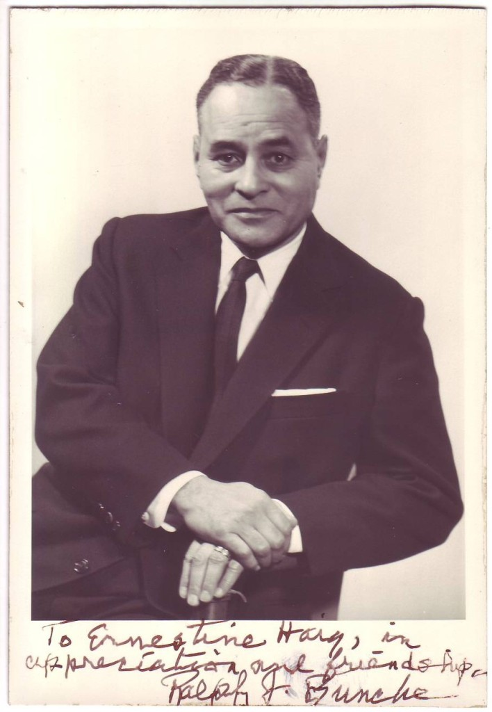 BUNCHE-RALPH-Photograph-Signed-and-Inscribed-to-secretary-of
