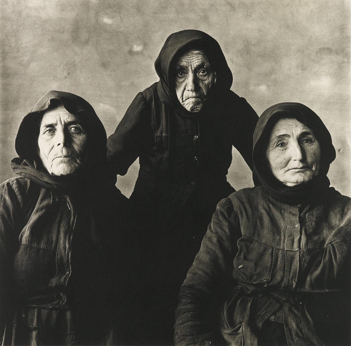 IRVING PENN (1917-2009) Three Cretan Women (Without Rope).