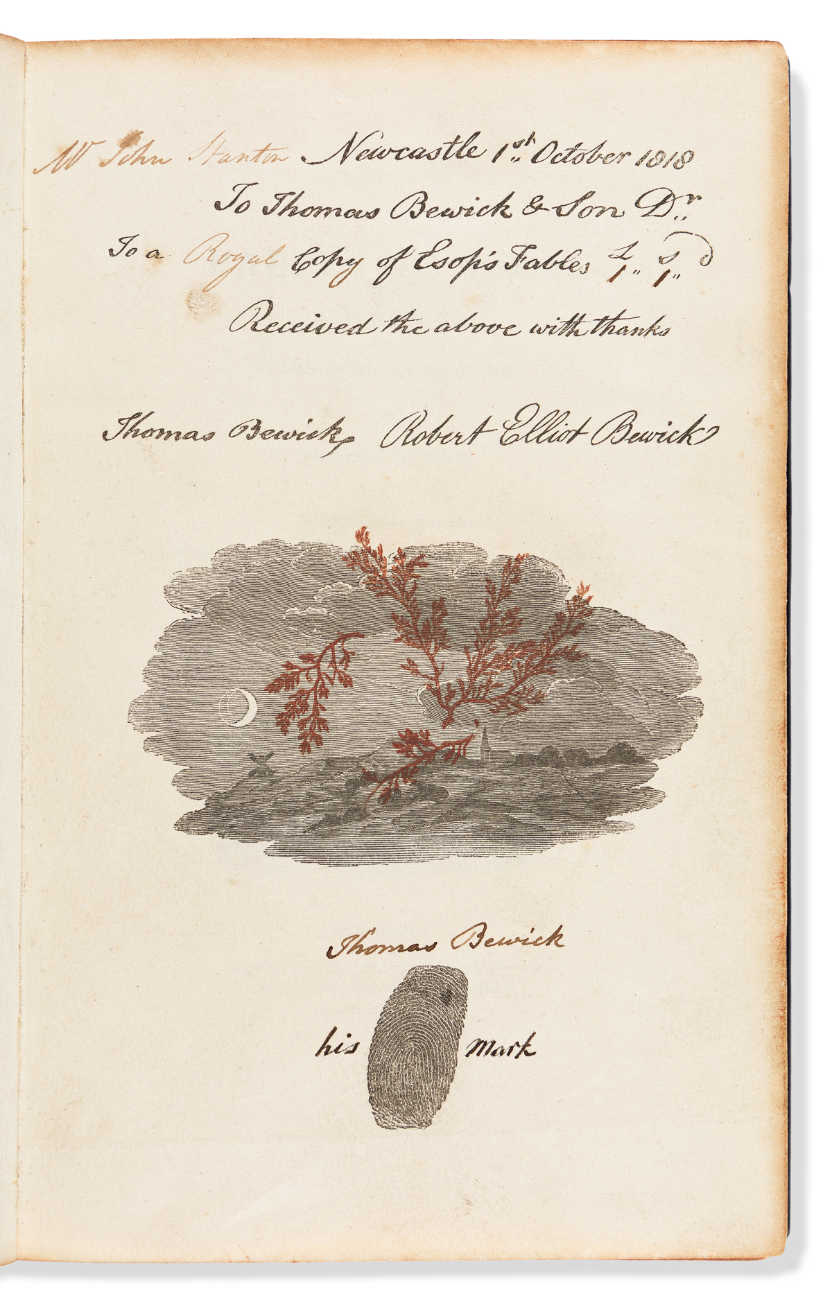 Bewick, Thomas (1753-1828) The Fables of Aesop and Others.