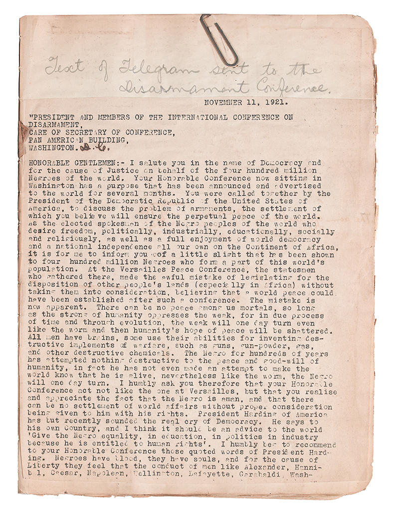 (GARVEY, MARCUS.) GARVEY, AMY JACQUES; EDITOR. Original manuscript for the 2nd edition of The Philosophy and Opinions of Marcus Garvey.
