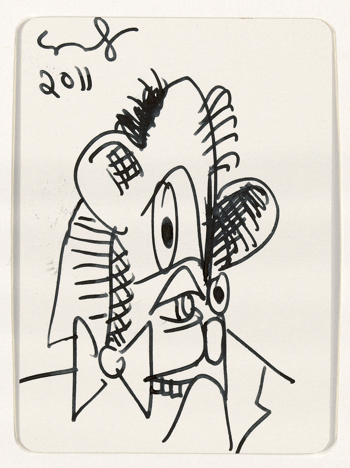 GEORGE-CONDO-Untitled-(Mental-States-Playing-Card-Drawing)