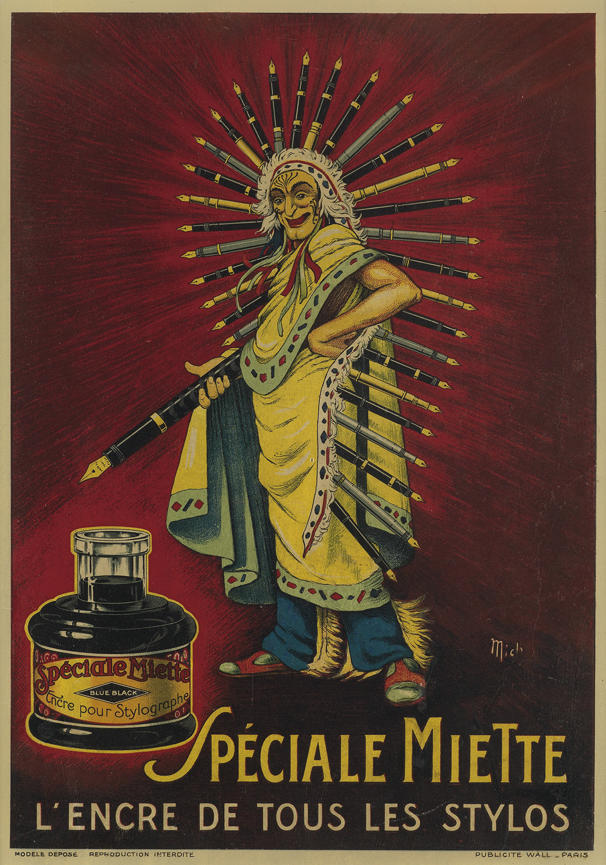 MICH-(MICHEL-LIEBEAUX-1881-1923)-[ADVERTISEMENTS]-Group-of-3