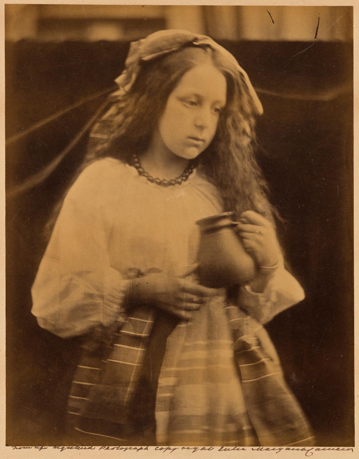 JULIA MARGARET CAMERON (1815-1879) La Contadina, girl with jar.