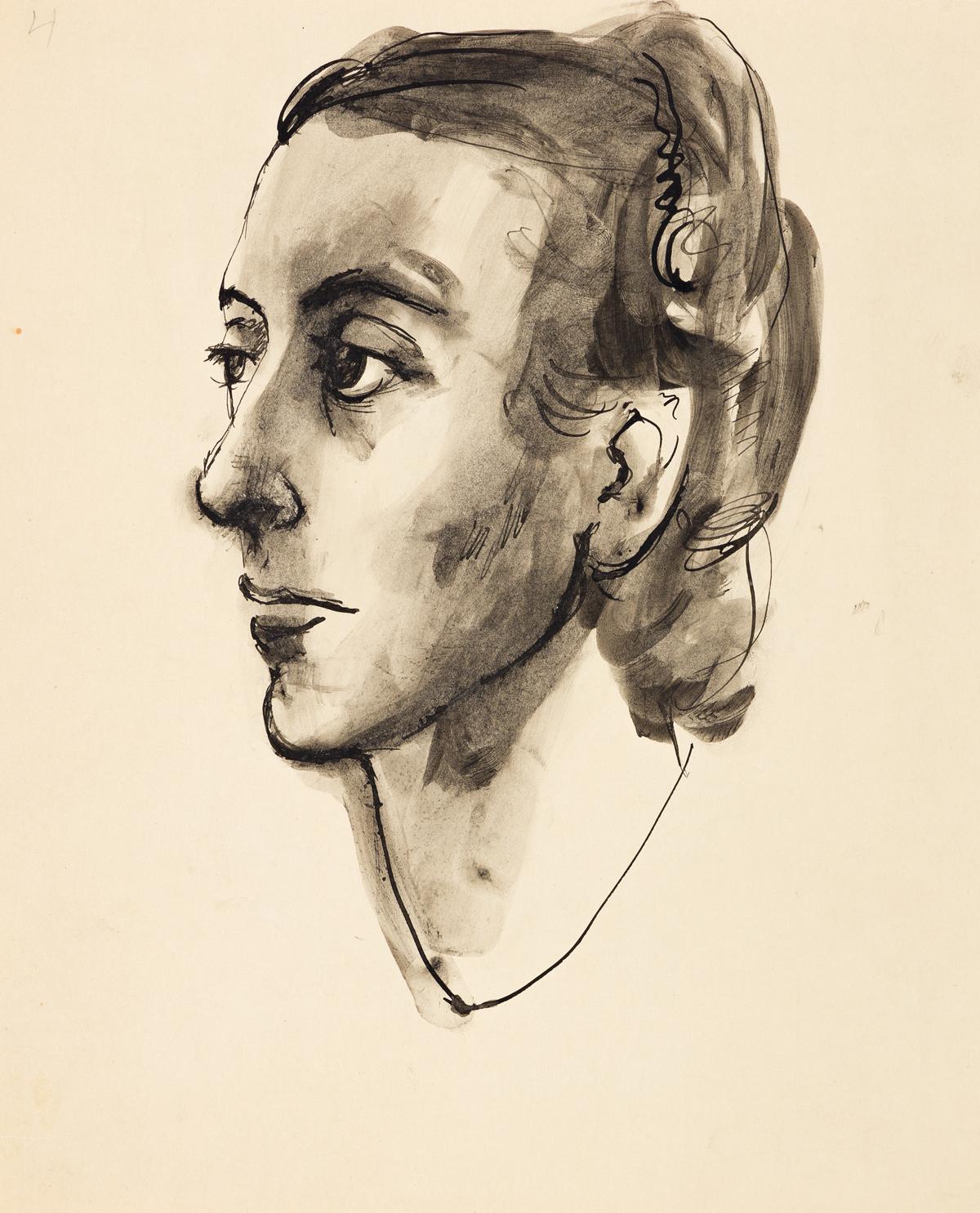 PAVEL TCHELITCHEW (1898-1957) Portrait of Mrs. Oliver Jennings (Mary Brewster Jennings).