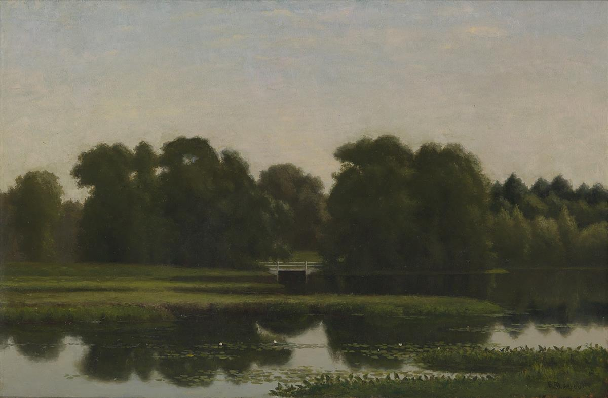EDWARD-M-BANNISTER-(1828---1901)-Morning-on-the-River-Provid