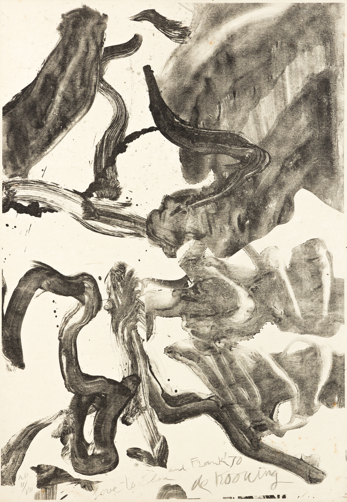 WILLEM DE KOONING Reflections: To Kermit for Our Trip to Japan.
