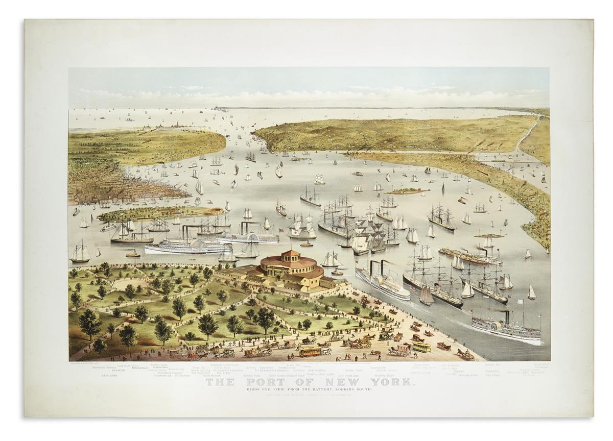 CURRIER--IVES-The-Port-of-New-York-Birds-Eye-View-From-The-B