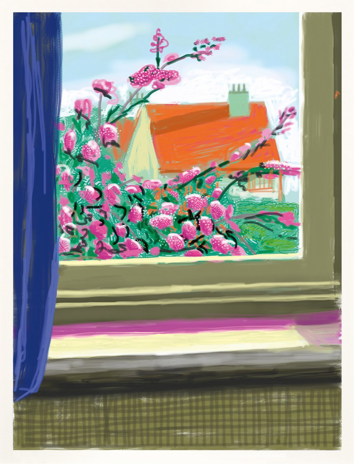 DAVID HOCKNEY Spring (No. 778, 17th April, 2011-2019).