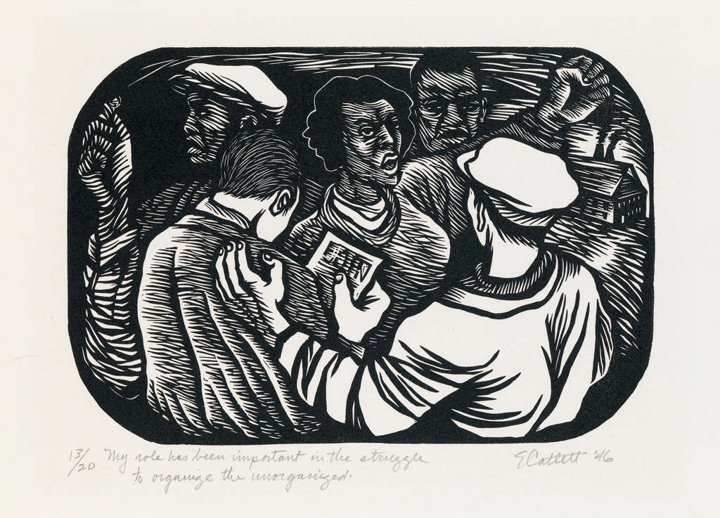 ELIZABETH CATLETT (1915 - 2012) My role has been important in the struggle to organize the unorganized.