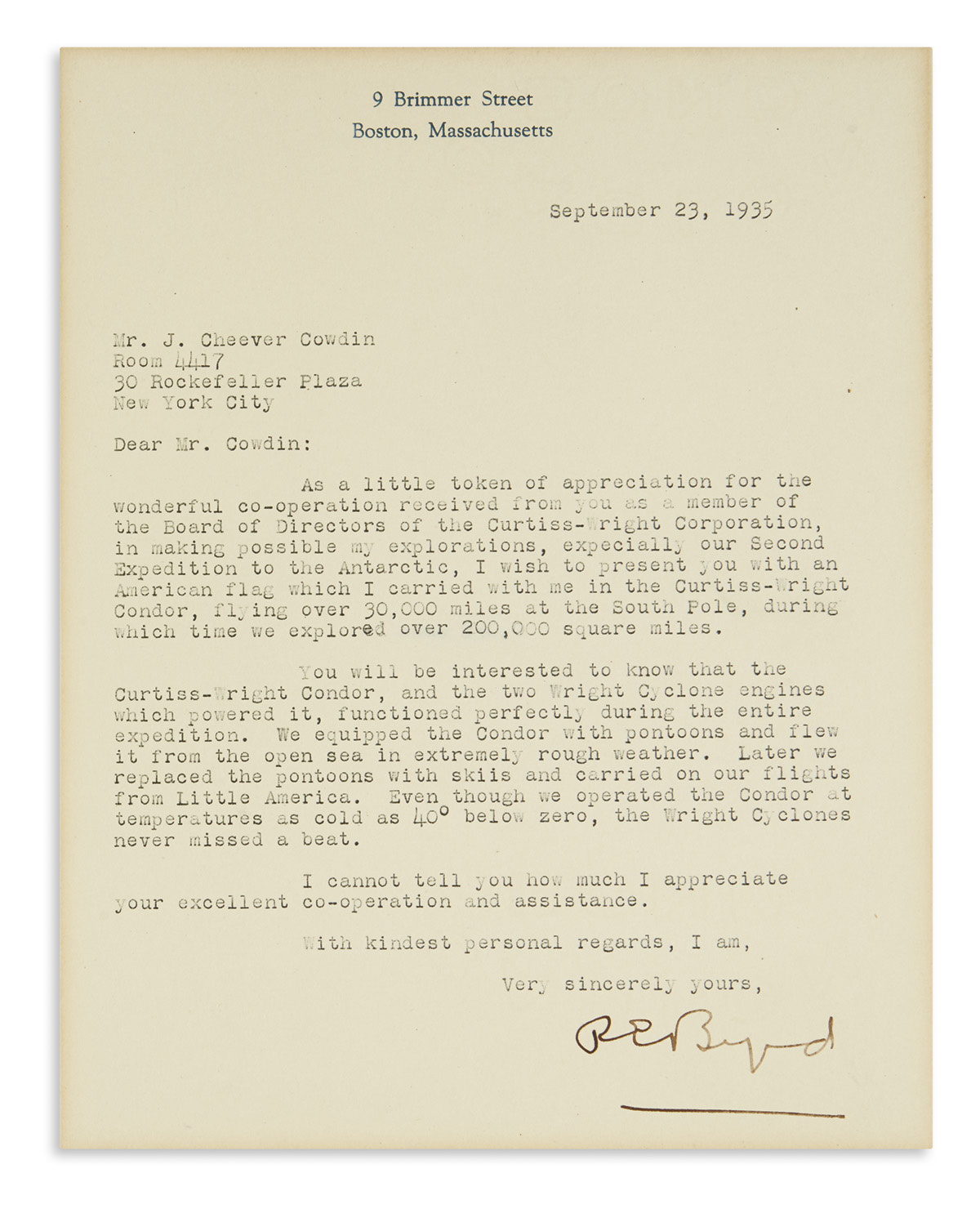 BYRD-RICHARD-E-Typed-Letter-Signed-REByrd-to-American-financ