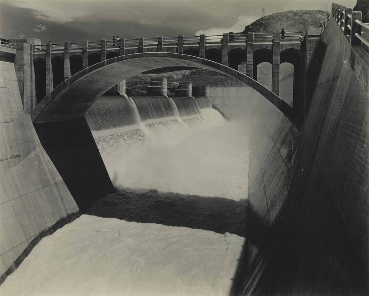(BOULDER DAM--HOOVER DAM) A selection of 12 photographs of the Boulder Dam and its power house on the Arizona and Nevada border.