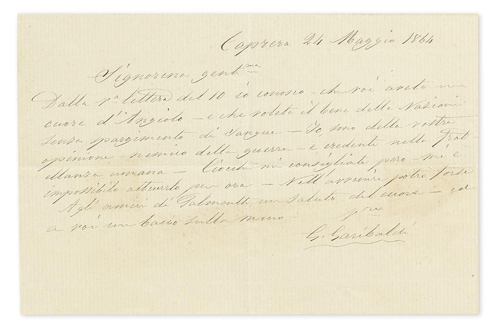GARIBALDI-GIUSEPPE-Autograph-Letter-Signed-G-Garibaldi-to-An