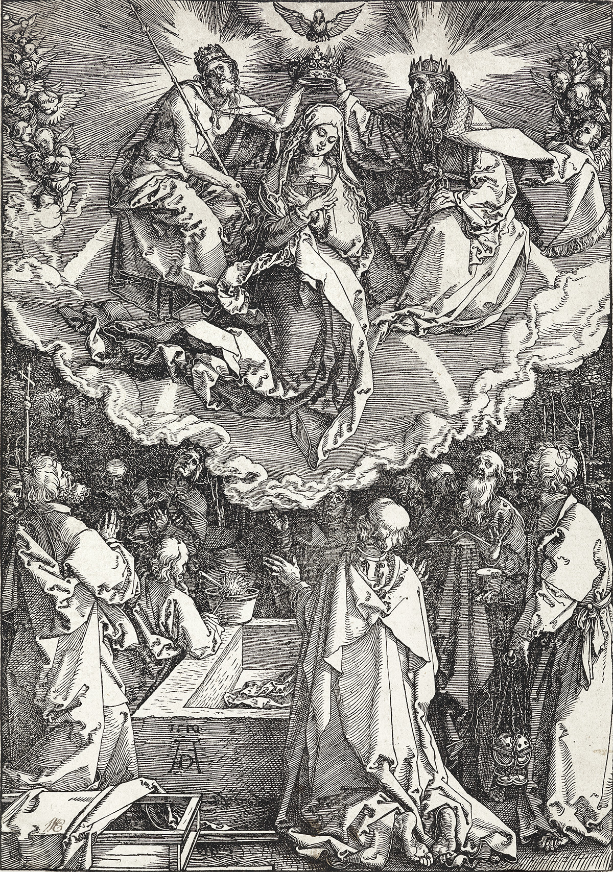 ALBRECHT-DÜRER-The-Assumption-and-Coronation-of-the-Virgin
