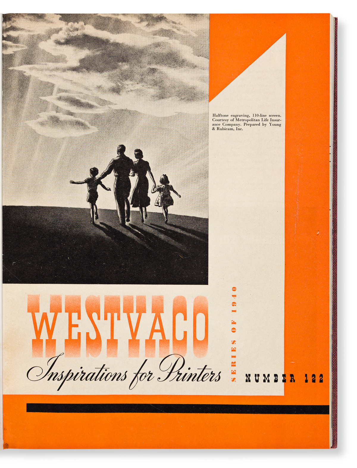 VARIOUS DESIGNERS. Westvaco - Inspirations for Printers. 3 vols: 1938-1939, 1940-1941, 1956-1961. West Virginia Pulp and Paper Company,