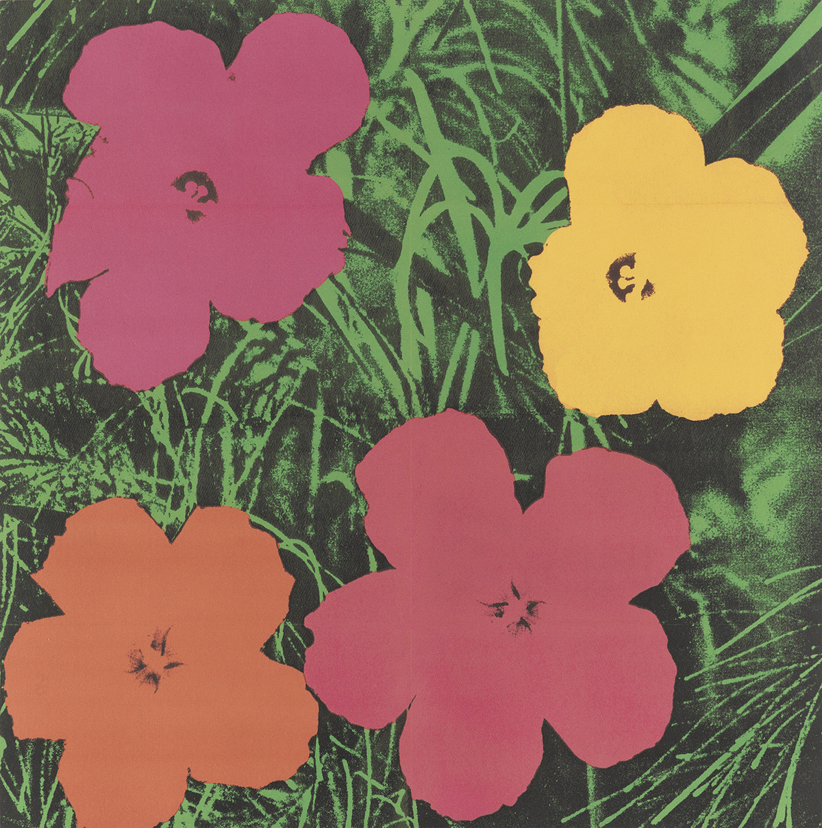 ANDY WARHOL (1928-1987). [EXHIBITION MAILERS.] Two invitations. 1964 & 1965. Sizes vary, each approximately 23x23 inches, 54x54 cm.