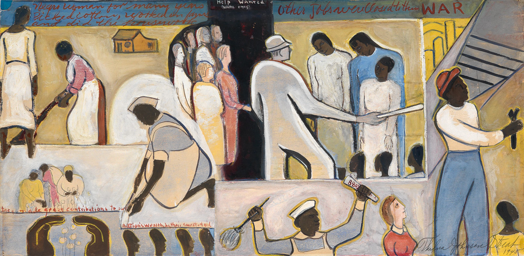 THELMA JOHNSON STREAT (1911 - 1959) The Negro In Professional Life (Mural Study Featuring Women In The Workplace).
