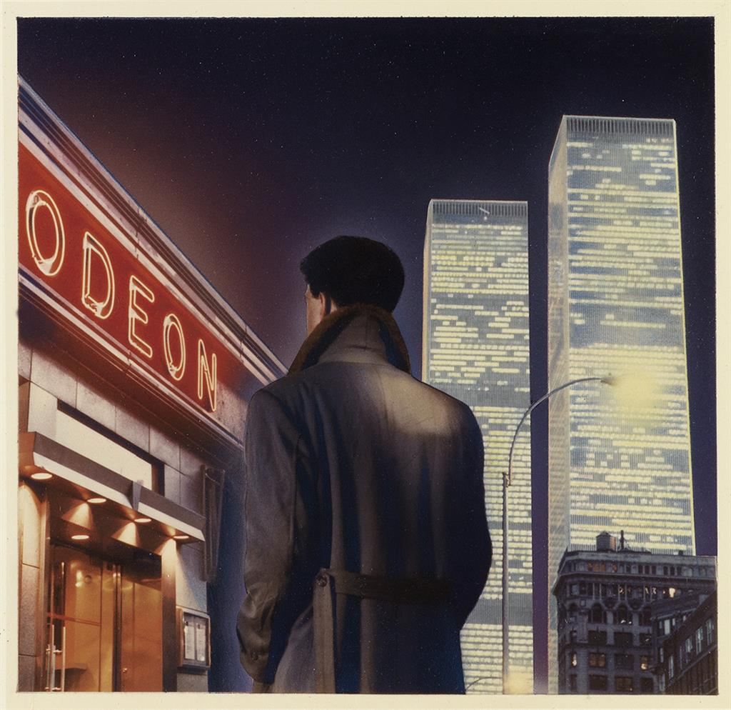 MARC TAUSS. Cover art for Bright Lights, Big City.