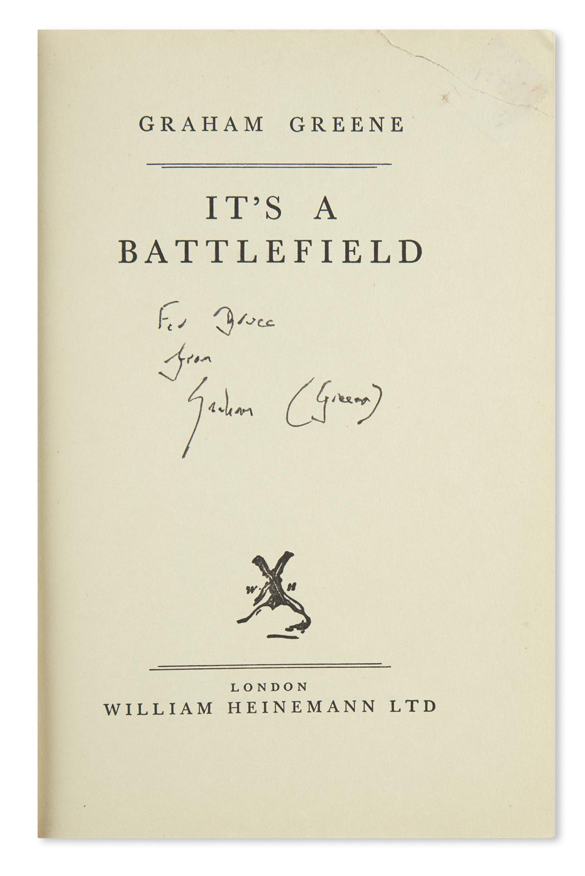 GREENE, GRAHAM. Its a Battlefield.