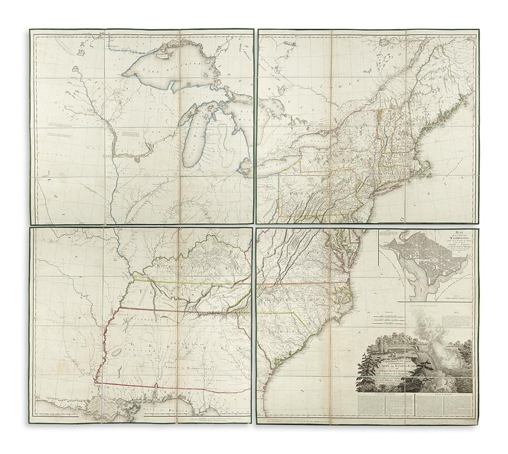 TARDIEU, PIERRE FRANCOIS. United States of Nth. America; Carte des Etats-Unis de lAmerique Septentrionale.