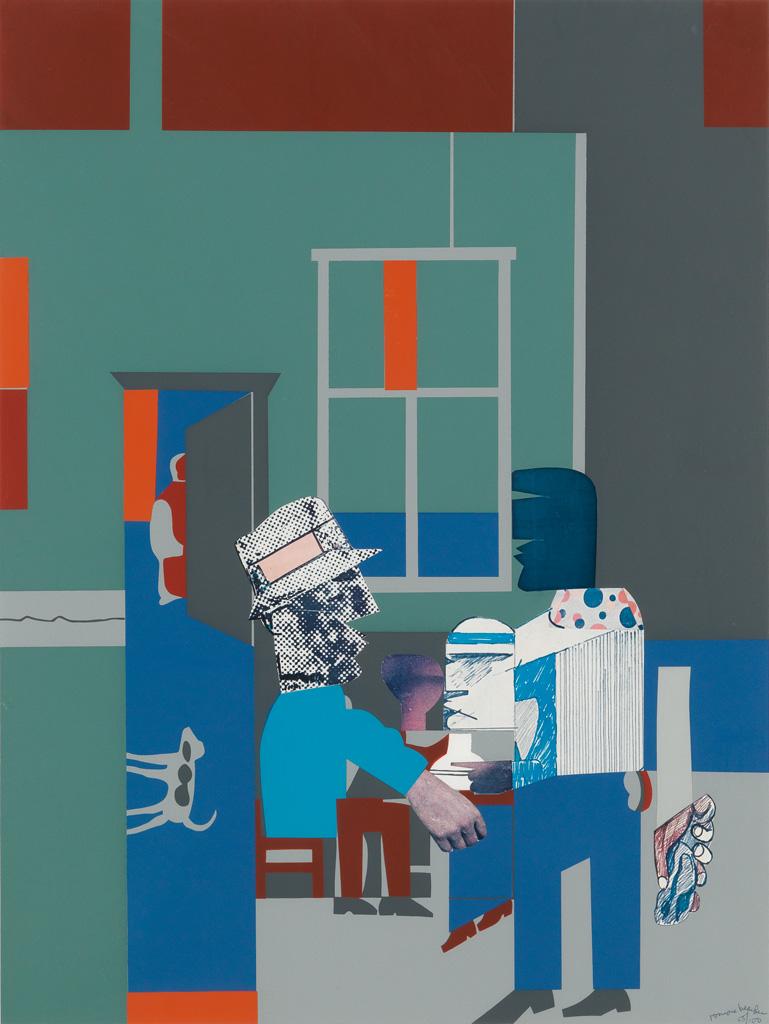 ROMARE-BEARDEN-(1911---1988)-Carolina-Blue-(Interior)