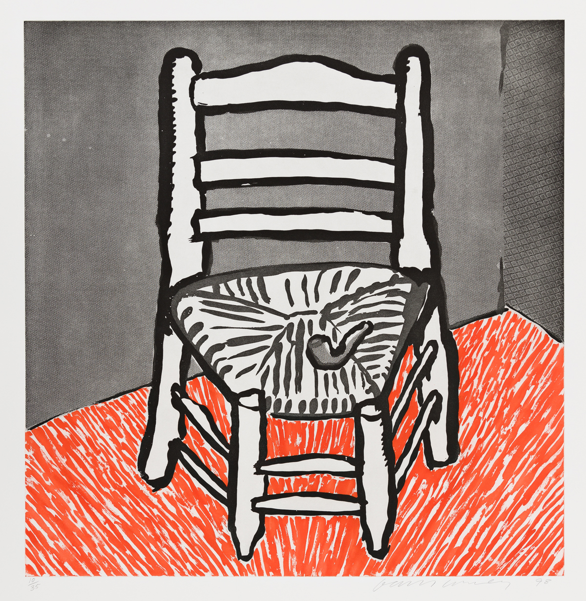 DAVID HOCKNEY Van Gogh Chair (White).