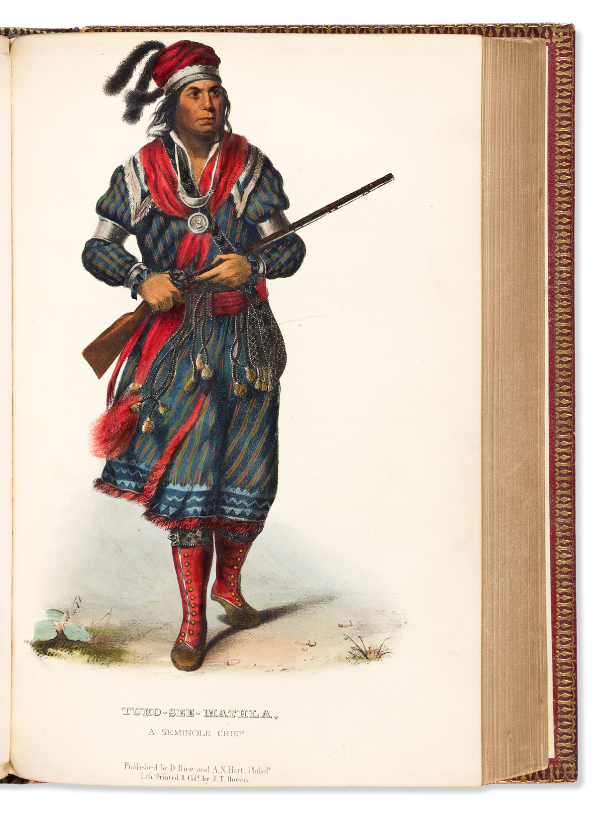 (AMERICAN INDIANS.) Thomas McKenney and James Hall. History of the Indian Tribes of North America.