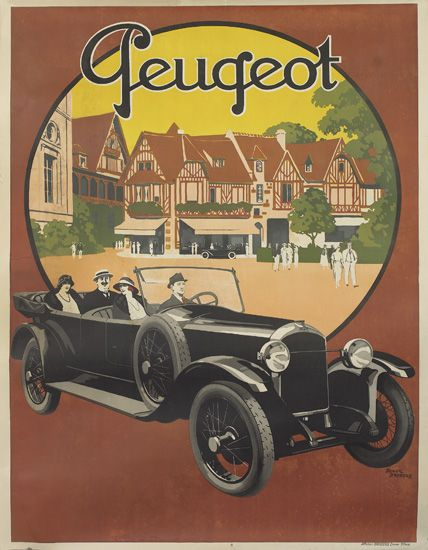 ROGER-BRODERS-(1883-1953)-PEUGEOT-1923-62x46-inches-159x119-cm-Affiches-Broders-Epinay