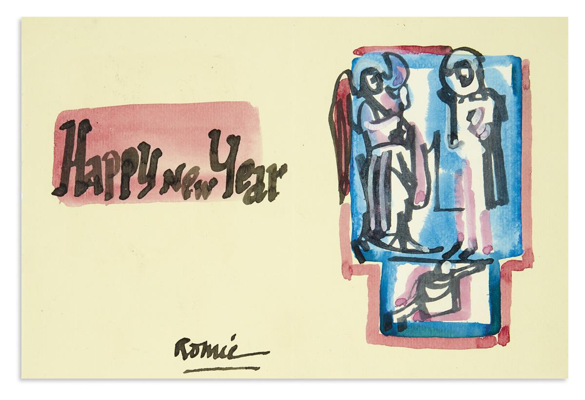 (ART.) Archive of letters, postcards, and greeting cards sent by the artist Romare Bearden.
