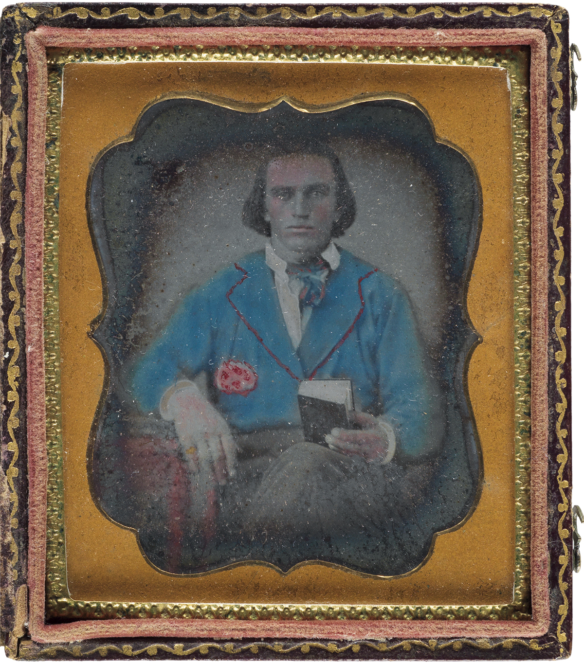 (MORMONS.) Daguerreotype of a young man believed to be Frederick Granger Williams Smith, son of Joseph Smith.