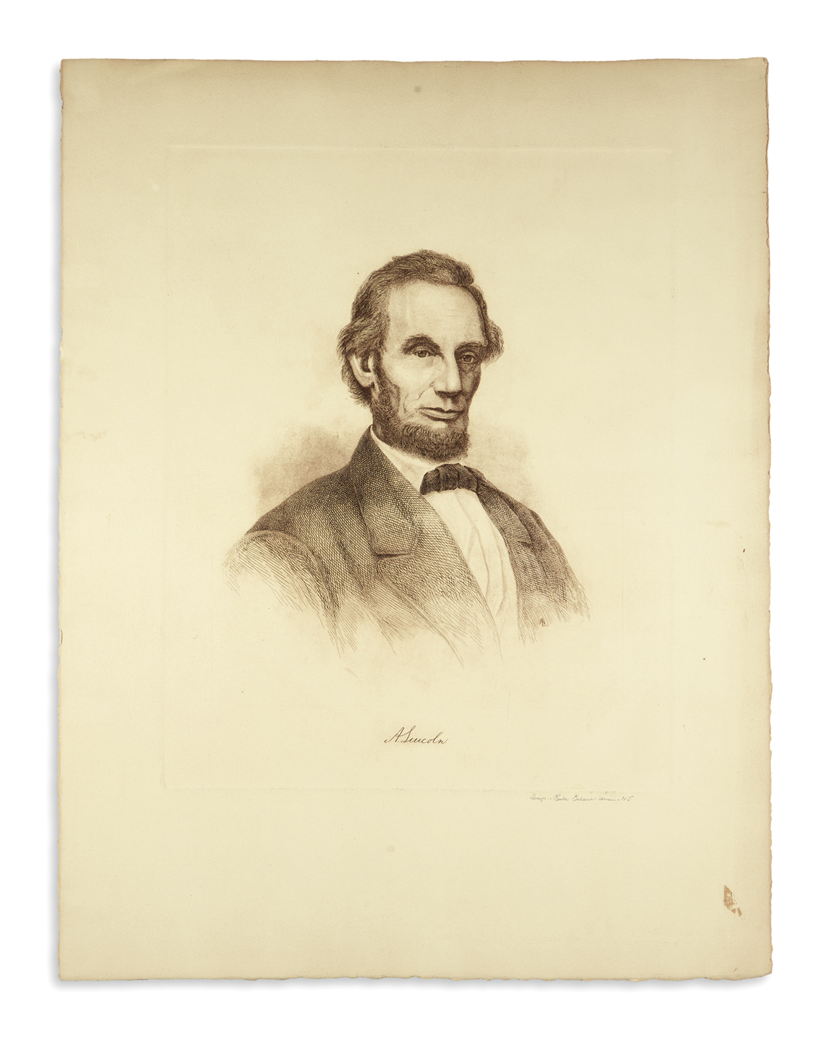 (PRINTS--MEMORIAL)-Group-of-10-prints-of-Lincoln-from-the-la